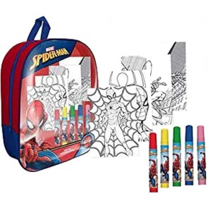 Spiderman Zaino trasparente + accessori