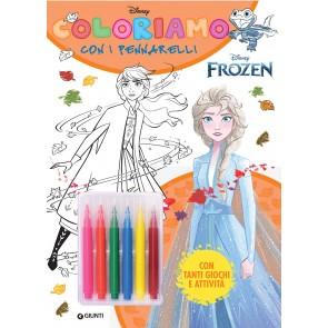 Frozen. Coloriamo con i pennarelli. Super album. Ediz. a colori. Con gadget