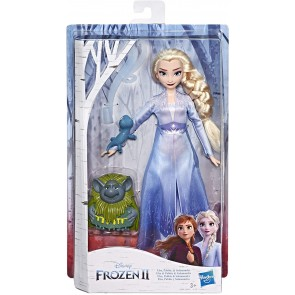 Frozen 2 Elsa con Pabbie e Salamandra