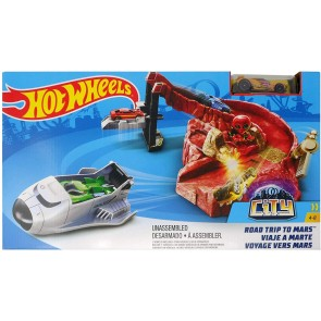 Hot Wheels City Road Trip To Mars Playset