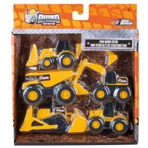 Rhino Construction - Road Ripper Playset Mini Work Crew 5 pz