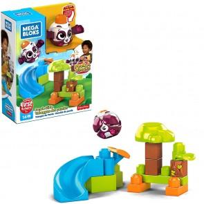 Mega Bloks First Builders, Bubù Cuccioli con Lanciatore Tema Foresta, 12 Blocchi da Costruzione