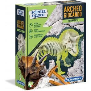 Archeogiocando Triceratopo Luminoso al Buio