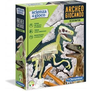 Archeogiocando Velociraptor Luminoso al Buio