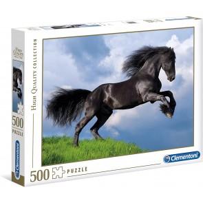 Puzzle Clementoni 500 pezzi. Fresian Black Horse