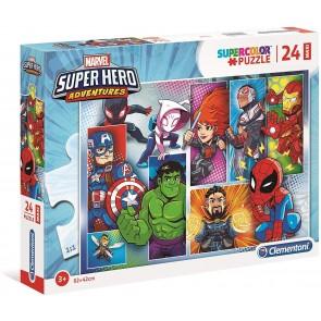Marvel Super Hero 24 maxi pezzi Supercolor Puzzle