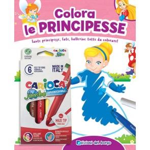 Colora le principesse. Tante principesse, fate, ballerine tutte da colorare! Ediz. a colori. Con 6 pennarelli