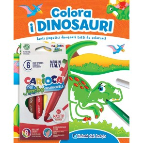 Colora i dinosauri. Tanti simpatici dinosauri tutti da colorare! Ediz. a colori. Con 6 pennarelli