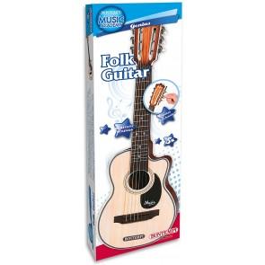 Music Academy Genius Chitarra folk in plastica a 6 corde in metallo