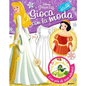 Gioca con la moda. Abiti da sera. Disney princess. Con adesivi