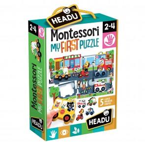 Montessori. First Puzzle The City