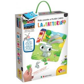 Giocare Educare. Baby Puzzle + Flash Cards La Fattoria