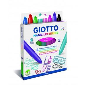 Giotto Magic Lettering. Pennarelli Confezione 8 colori
