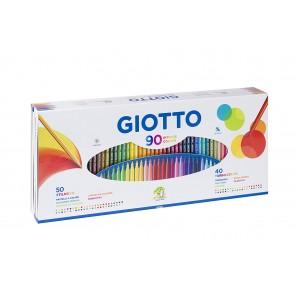 Pennarelli Giotto. Scatola 90 colori assortiti. 50 Stilnovo + 40 Turbo Color