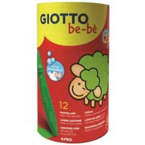 Giotto be-bè. Pastelloni a cera, barattolo 12 colori assortiti