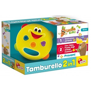 Carotina Baby. Tamburello 2 in 1, Multicolore