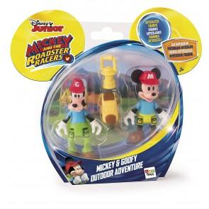 Disney Junior. La Casa di Topolino. Personaggi Articolati. Pack Topolino e Pippo Avventure All'Aria Aperta