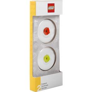 Gomme LEGO Rosso & Lime. Confezione 2 pezzi
