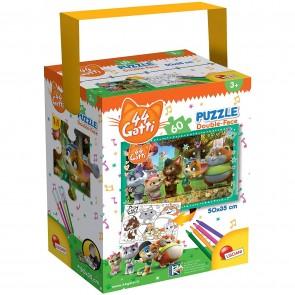 Puzzle In A Tub Mini 60 44 Gatti Eyes Cats!