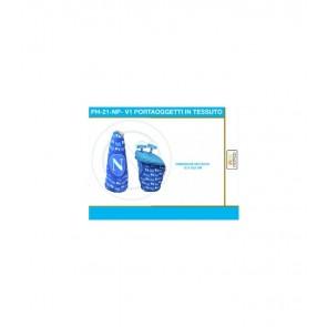 Gadget SSC Napoli. Porta oggetti in tessuto azzurro