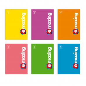 Confezione da 5 pezzi. Quaderno Pigna Emazing A4 Monocromo a Quadretti (5mm FF30+1) Colori Assortiti