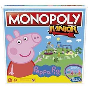 Monopoly Junior: Peppa Pig Edition, gioco da tavolo per 2-4 giocatori