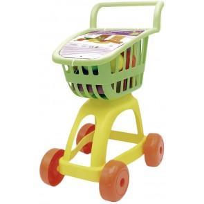 Carrello Supermercato con Alimenti, Colore: Verde/Giallo