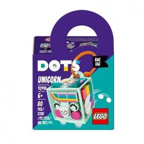 LEGO DOTS (41940). Bag Tag Unicorno, Giocattolo Portachiavi, Idea Regalo per Bambini e Bambine dai 6 anni in su
