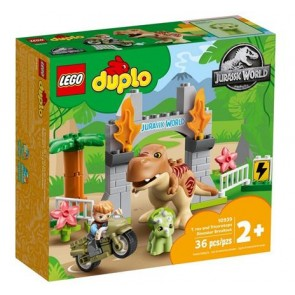 LEGO DUPLO Jurassic World (10939). Fuga del T.rex e del Triceratopo