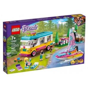LEGO Friends (41681). Camper Van nella foresta e barca a vela