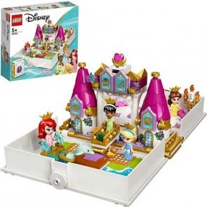 LEGO Disney Princess (43193). L'Avventura Fiabesca di Ariel, Belle, Cenerentola e Tiana, Castello Giocattolo con 4 Mini Bambole