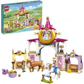 LEGO Disney Princess (43195). Le Scuderie Reali di Belle e Rapunzel, Set da Costruzione con Cavallo Giocattolo e Mini Bambole