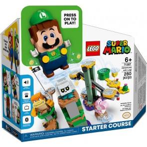 LEGO Super Mario (71387). Avventure di Luigi. Starter Pack, Set Giocattolo da Costruzione con Personaggi Interattivi