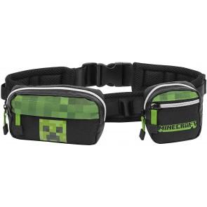 Marsupio Minecraft con due scomparti nero-verde