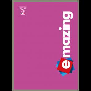 Confezione da 5 pezzi. Quaderno Pigna Emazing A4 Monocromo a Righe (5mm FF30+1) Colori Assortiti