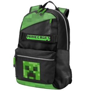 Zaino Creeper Minecraft 3 zip Nero-Verde